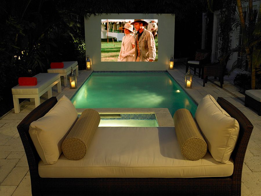 Take your home cinema experience into the tropical backyard [Design: Campion Platt Interiors]