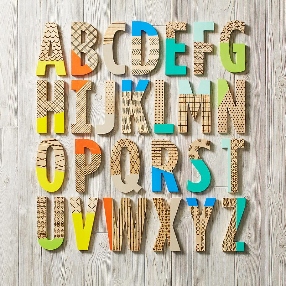 Creative paint-dipped letters from The Land of Nod