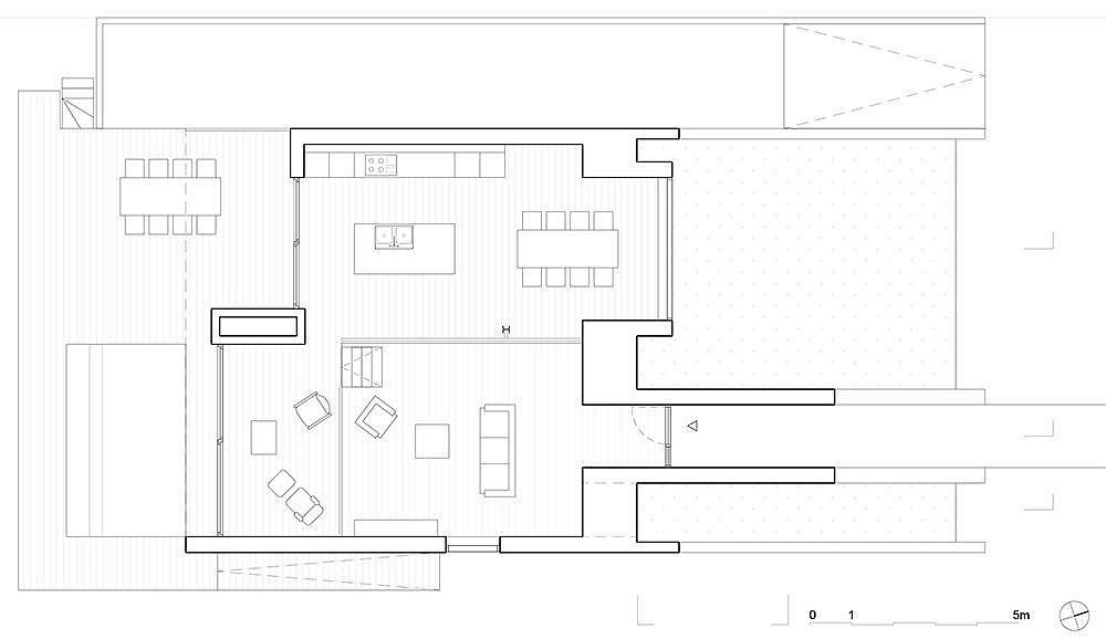 Floor plan of upper level of Pibo House in Belgium