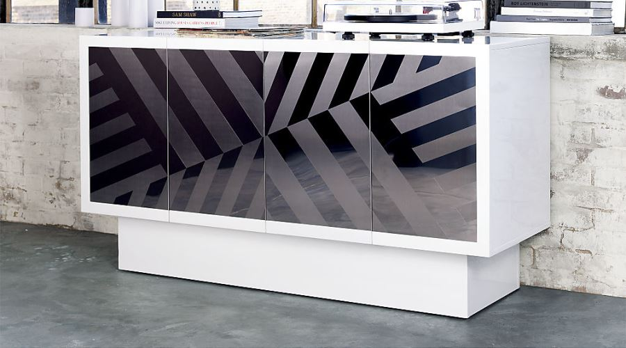 Patterned console table from Kravitz Design x CB2