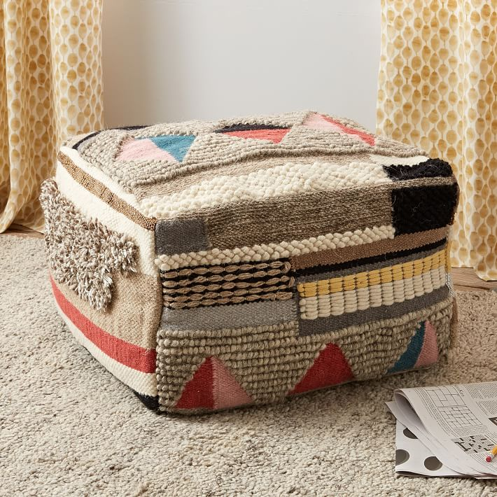 Boho pouf from West Elm