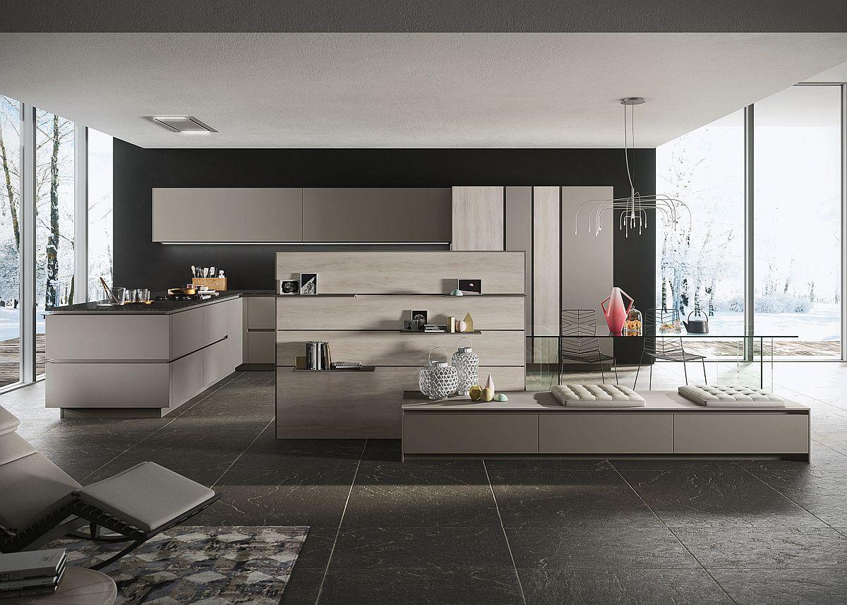Custom minimal kitchen compositions from Snaidero