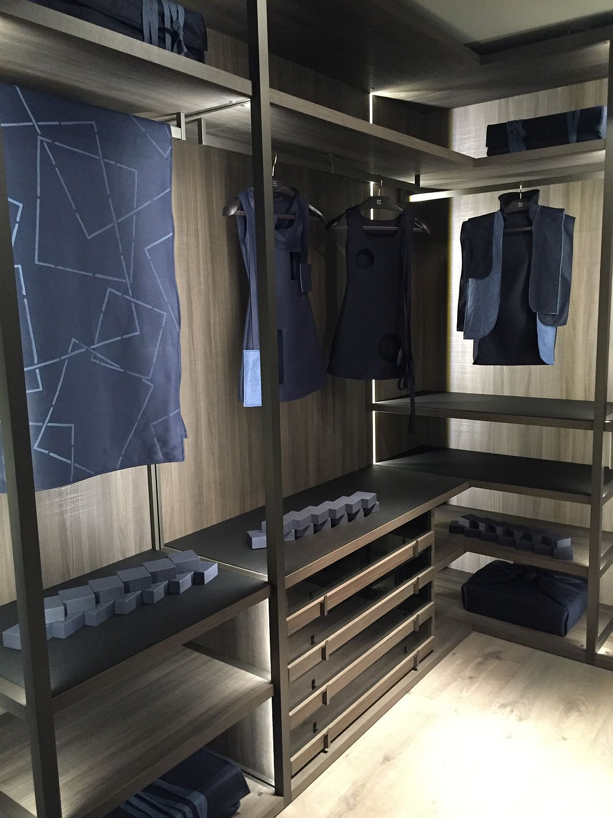 Gorgeous walk-in closet from MisuraEmme at Milan 2016