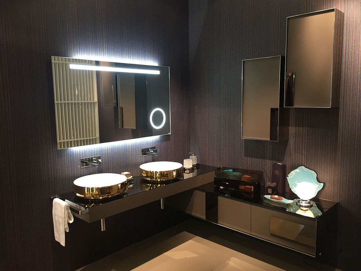 Inda bathroom designs with golden glint