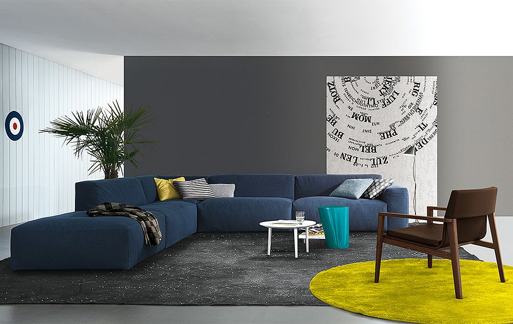 Lovely blue Daniel sectional sofa from Jesse