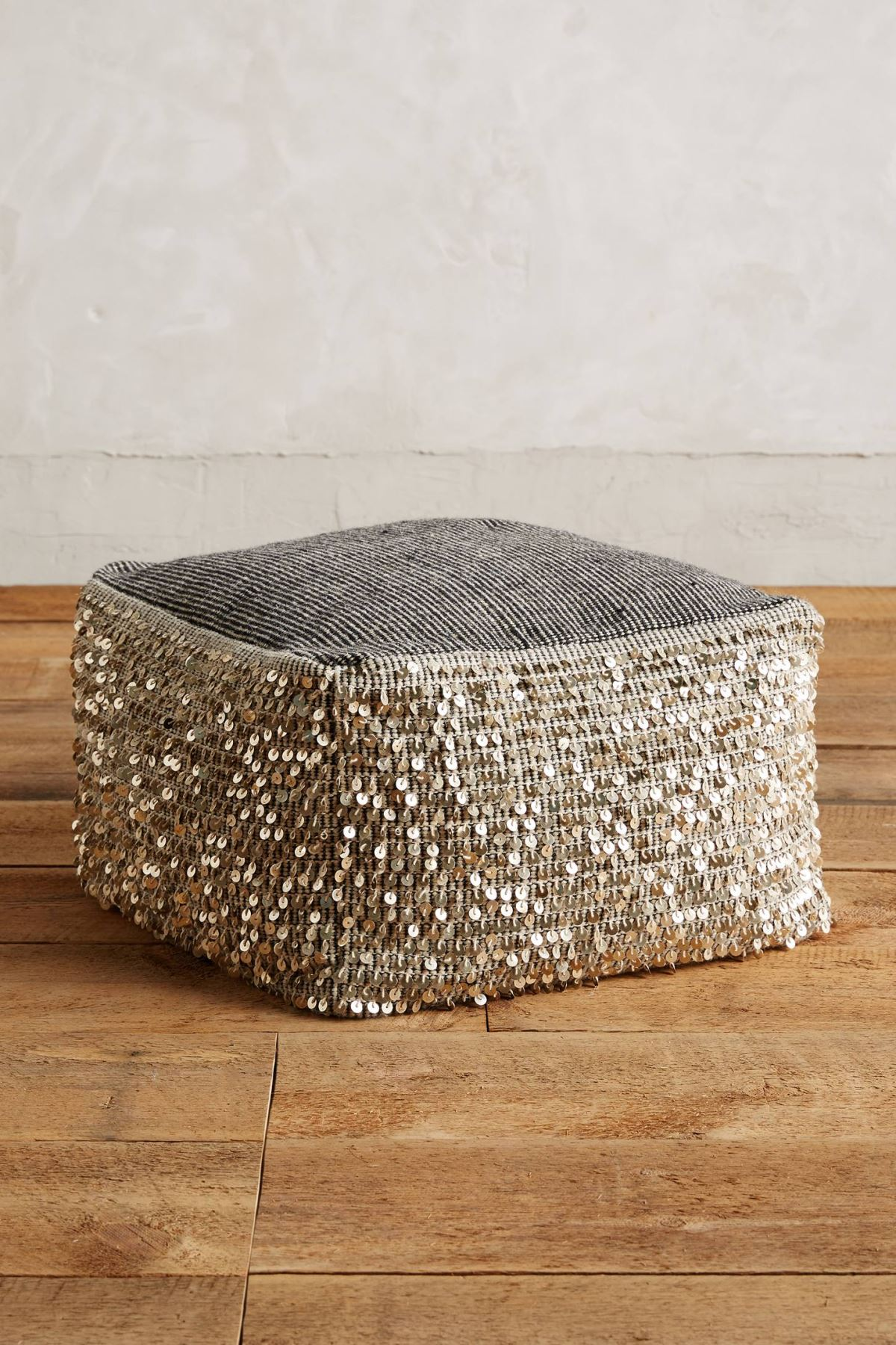 Metallic pouf from Anthropologie