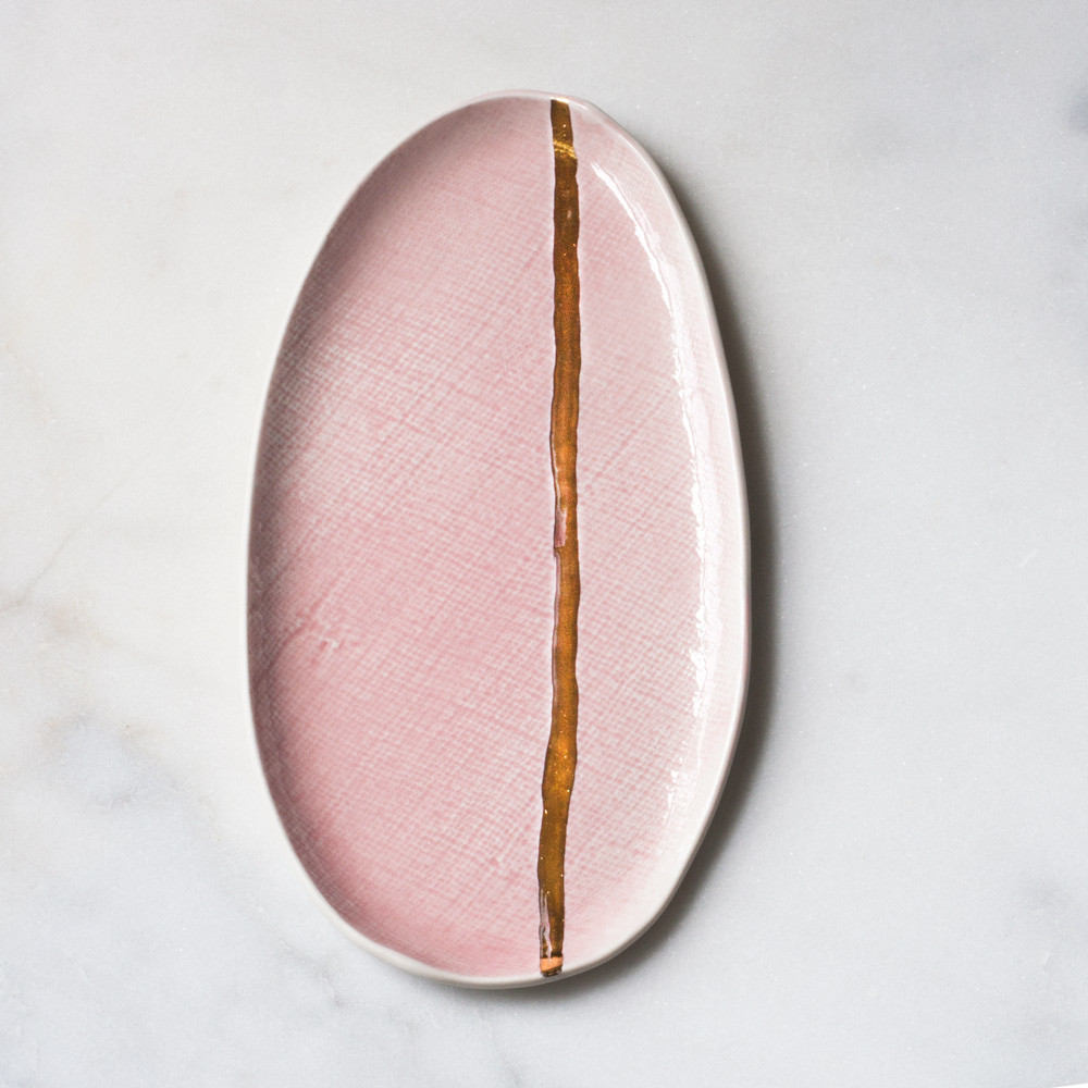 Rose and gold tray from Suite One Studio