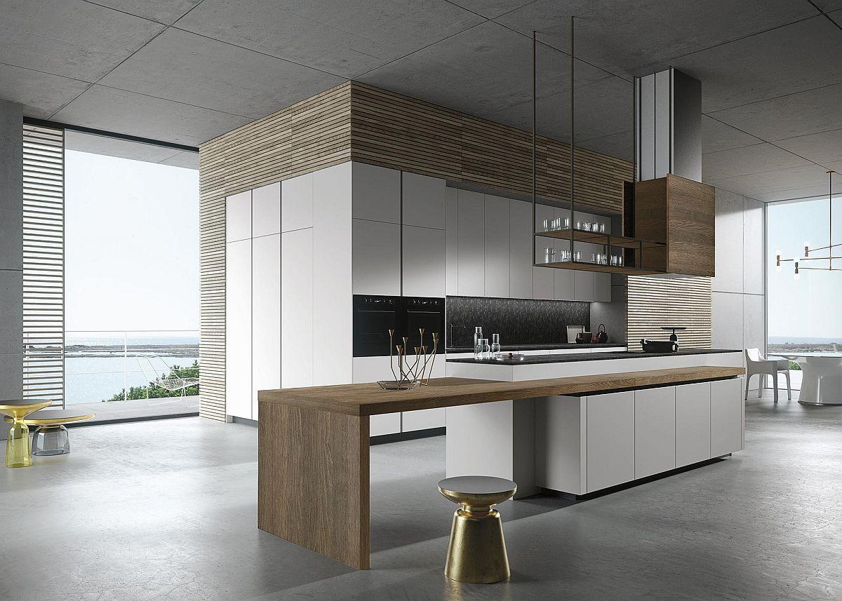 Stunning minimal kitchen design from Michele Marcon for Snaidero