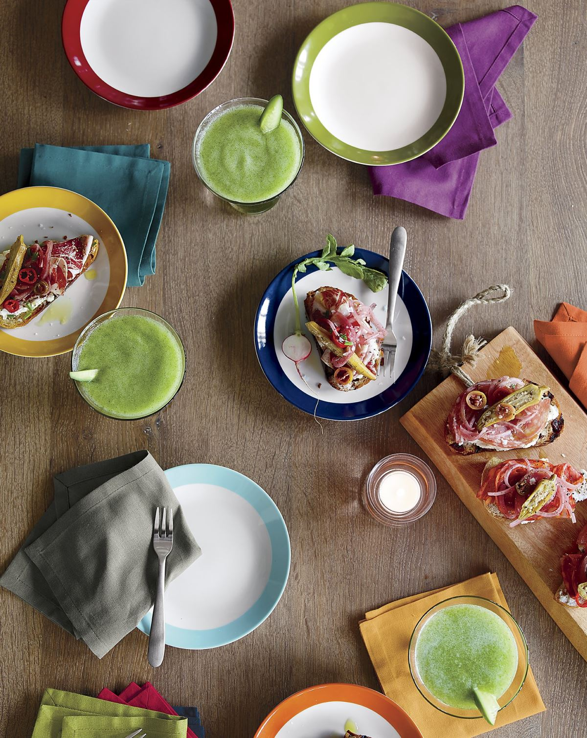 Cocktail napkins from Crate & Barrel