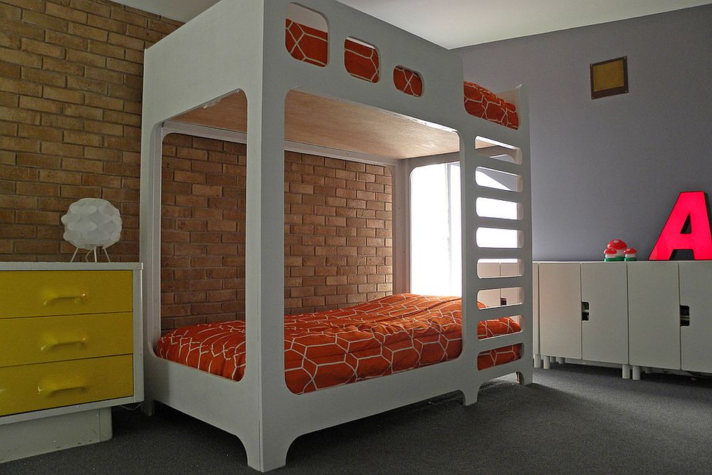 Loft bed saves up space in the kids' space [From: Sarah Greenman]