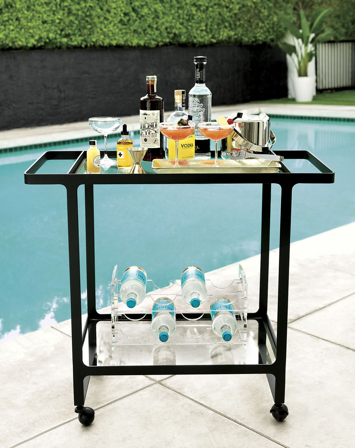 Outdoor bar cart from CB2