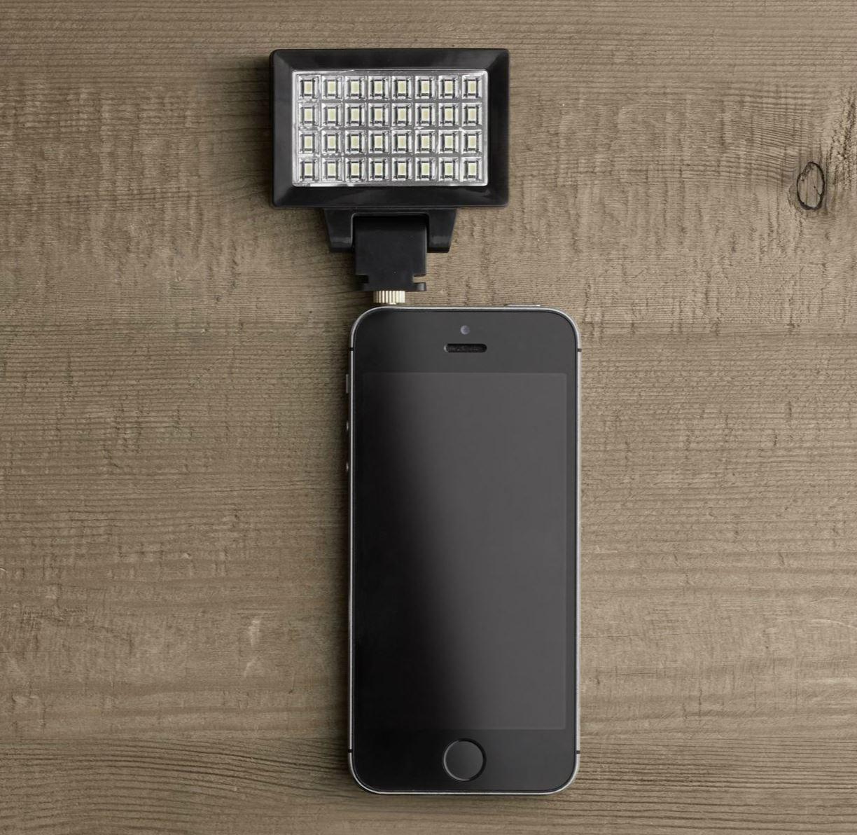 Phone power flash from Restoration Hardware