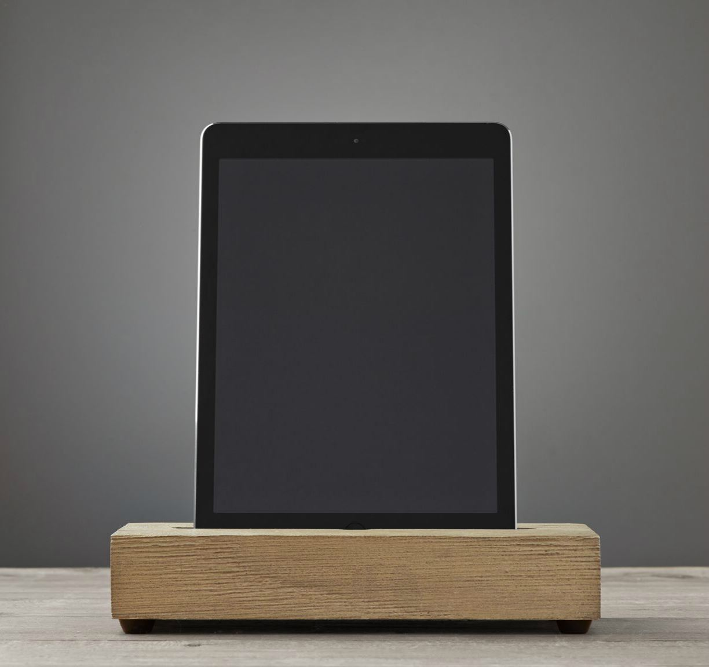 iPad charging station from Restoration Hardware