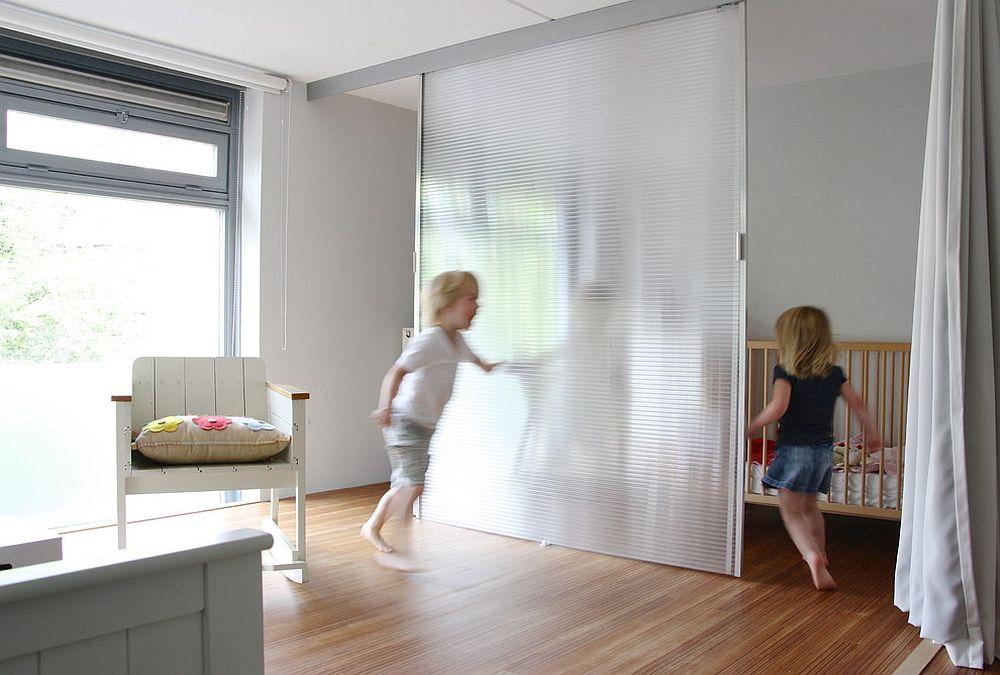Contemporary reinterpretation of sliding barn door