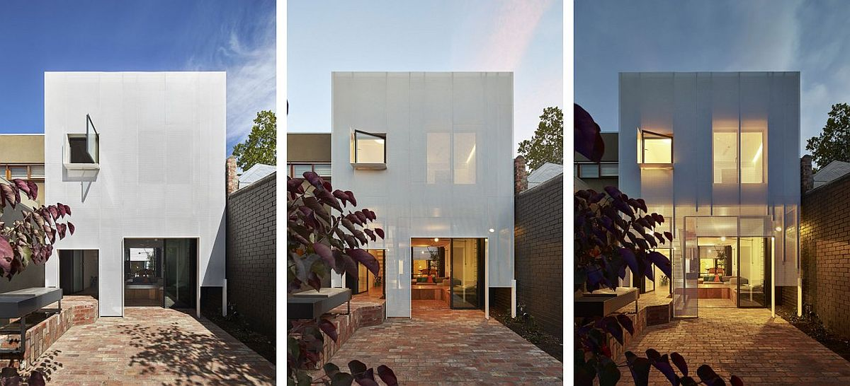 Contemporray rear extension of terrace house in Melbourne