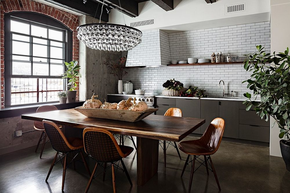 Elegant kitchen and dining room rolled into one [From: Jessica Helgerson Interior Design]
