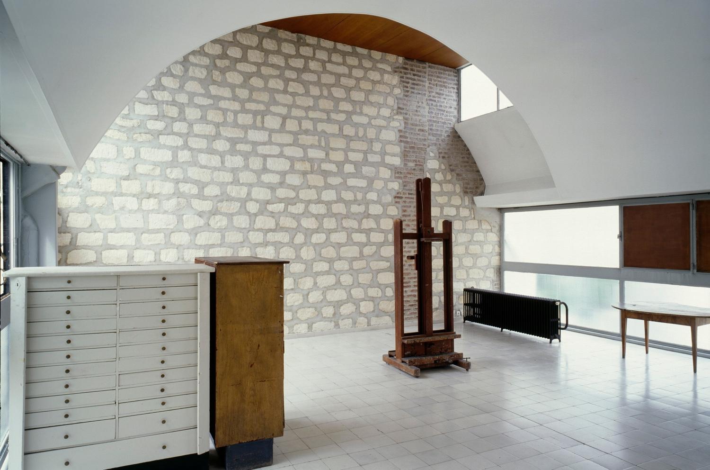 Le Corbusier's painting studio atMolitor.Photo byOliver Martin-Gambier©FLC/ADAGP.