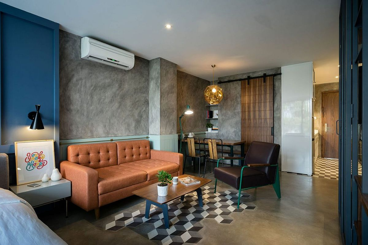Retro, industrial and modern styles brought together inside the Ho Chi Minh City apartment