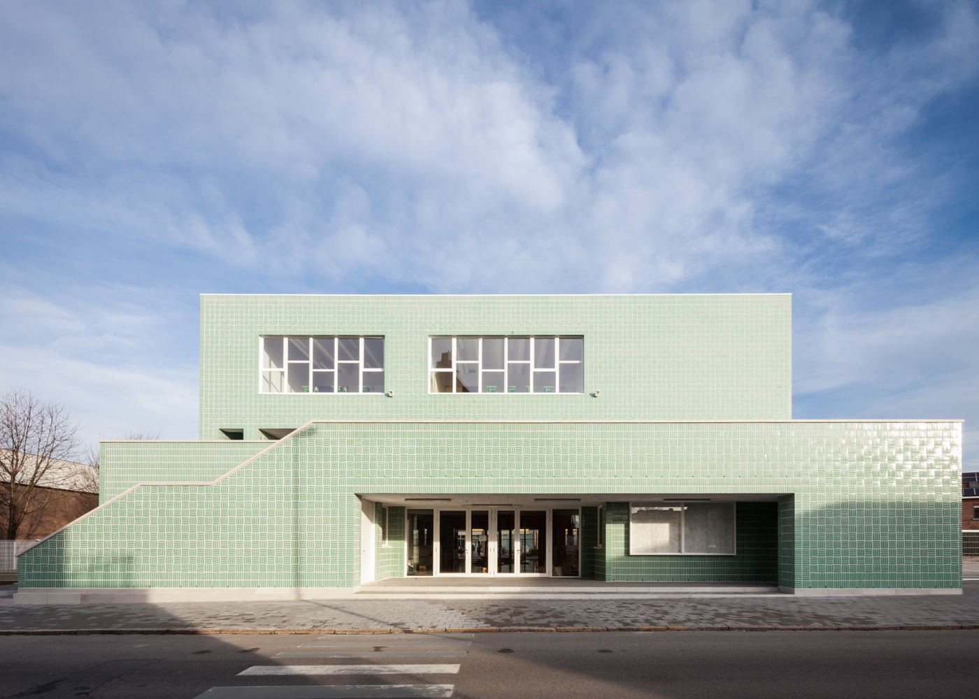 Primary school block in Belgium, designed by Areal Architecten.