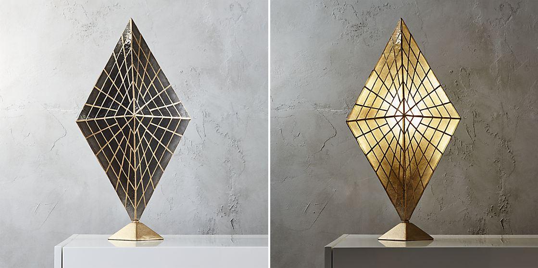 Diamond table lamp from CB2