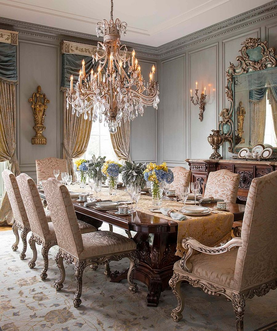 Exquisite Victorian dining room offers timeless class and elegance