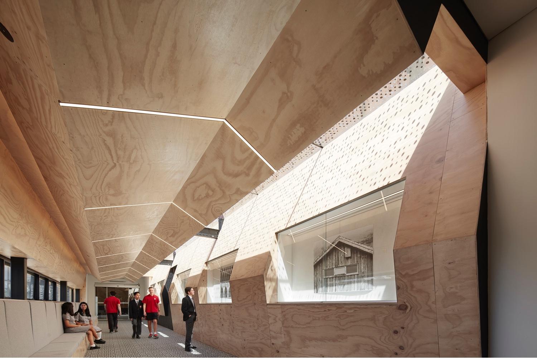 "Interior of the ""Flyover Gallery"" at Caroline Chisholm College in Braybrook, Victoria, Australia."