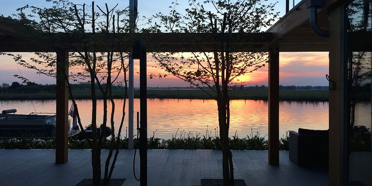 Sunset from the beautiful contemporary Dutch villa