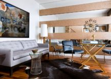Cool striped accent walls for fancy living rooms
