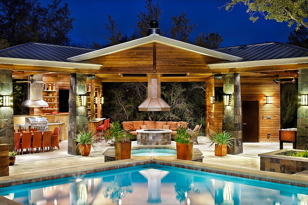 Awesome contemporary pool house that does it all! [Design: CG&S Design-Build]