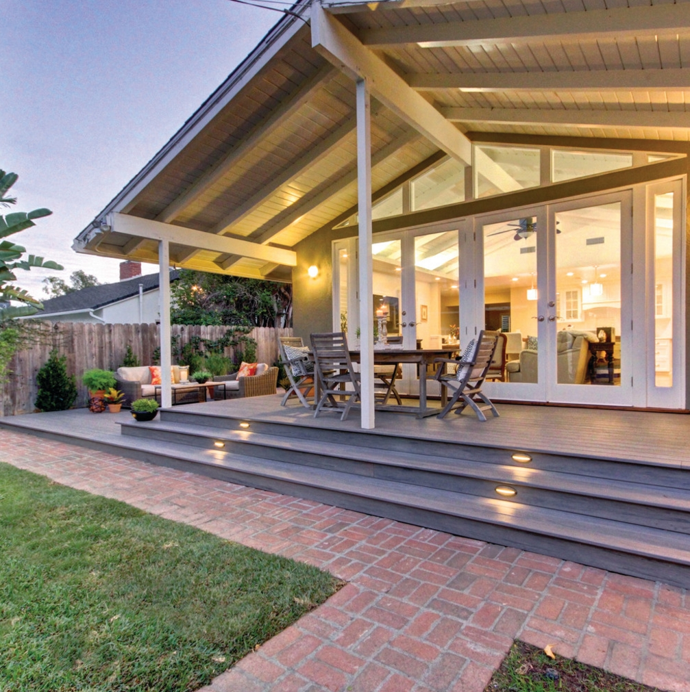 Back porch by TimberTech