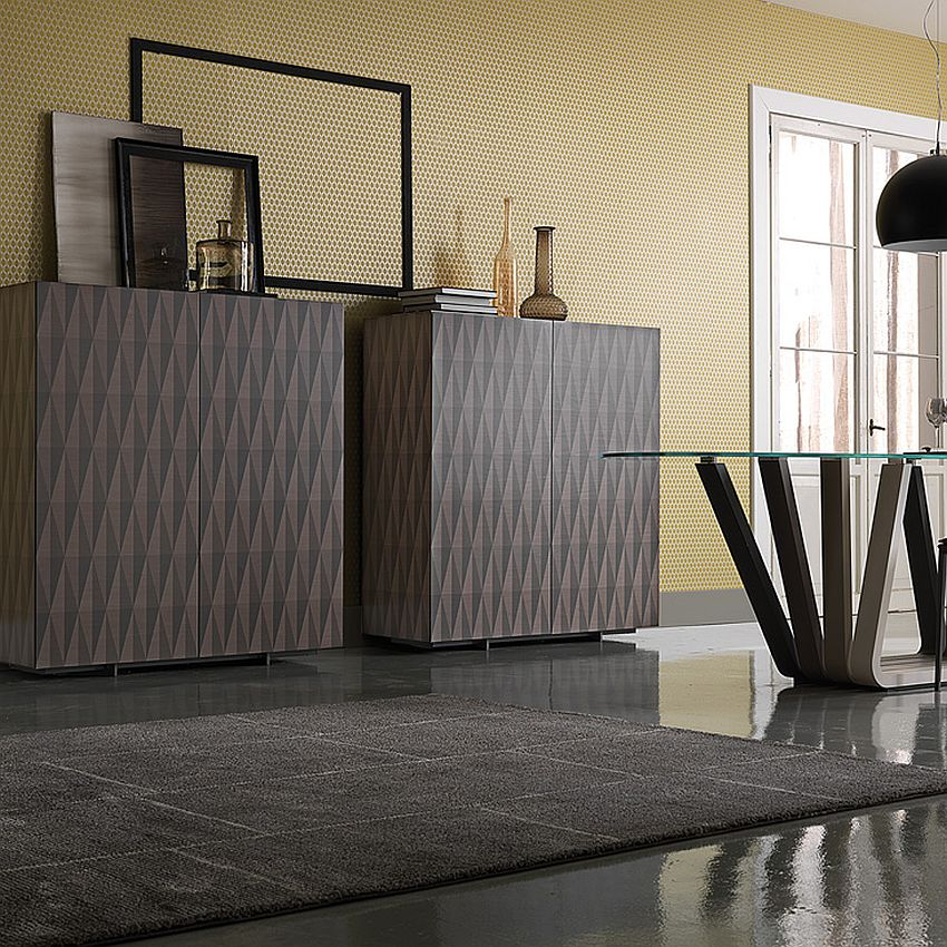Contemporary sideboards with geo design by Alessio Bassan