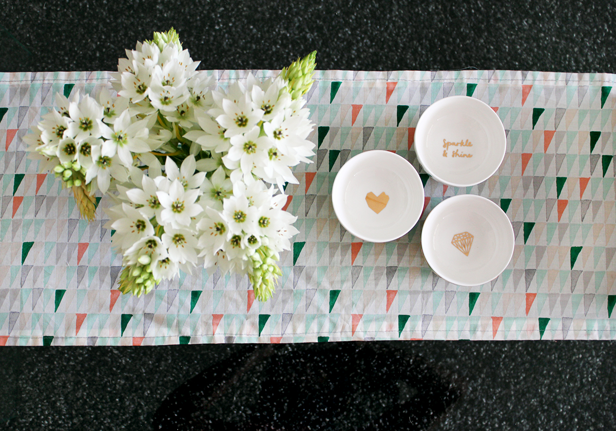 DIY table runner from Makers Society