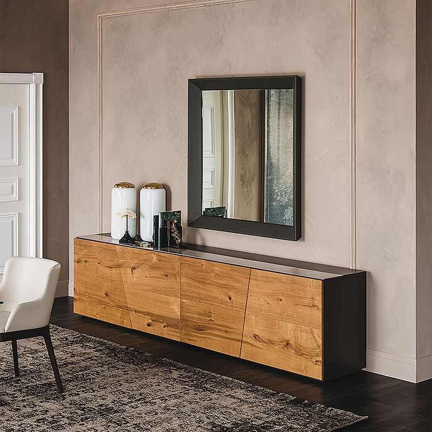 Minimal and stylish sideboad with wooden finish