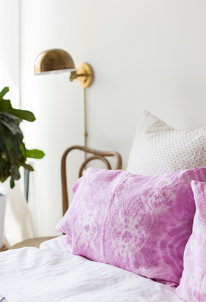Shibori pillowcases from Camille Styles