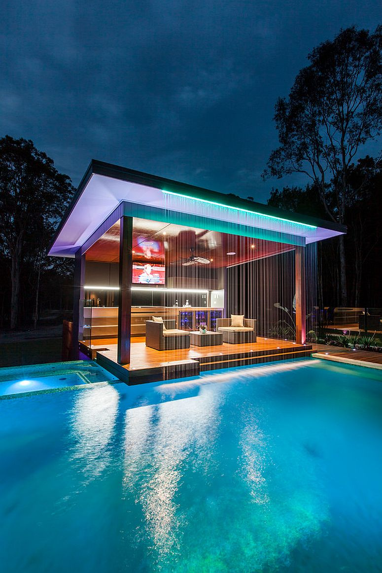 Stunning pool house will wow your guests every single time [Design: Darren James Interiors]