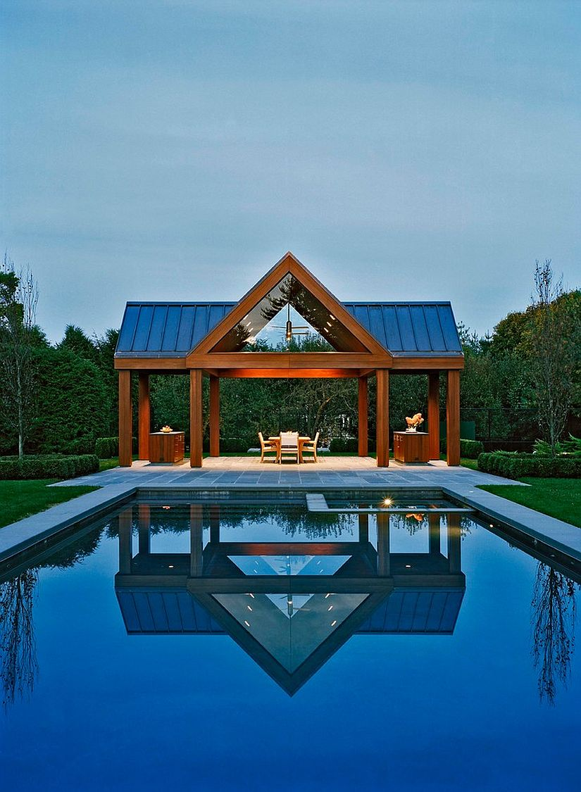 Unassuming pool house is all about enjoying the outdoors [Design: Harry Elson Architect]
