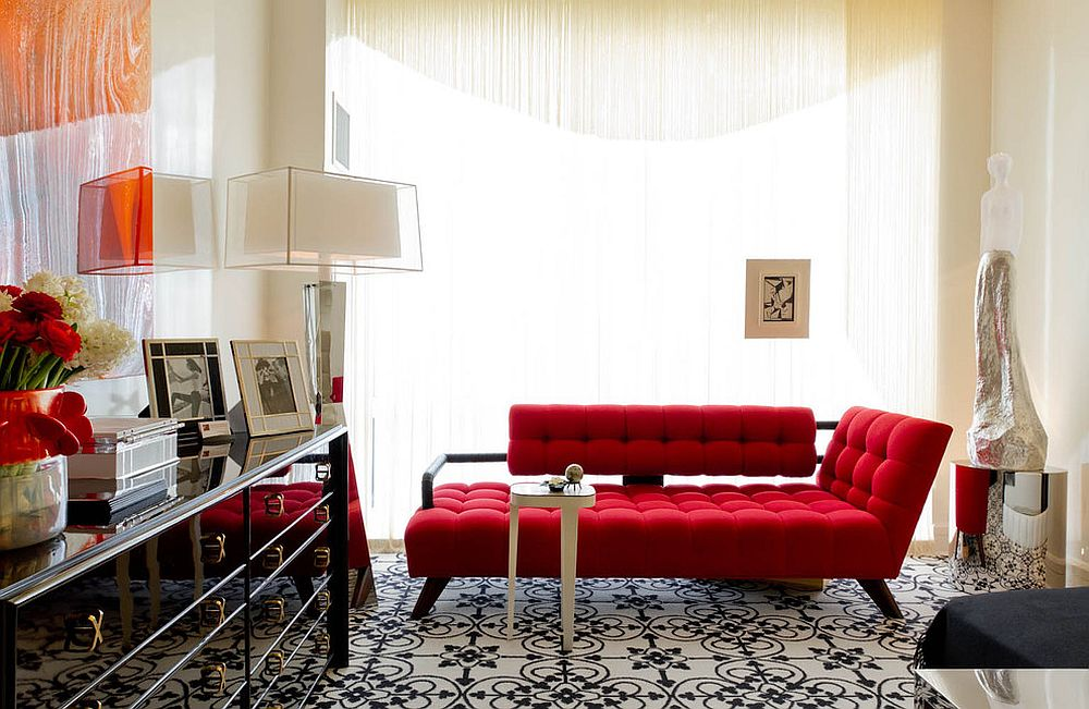 Ingenious design of the sofa combines the classic chaise lounge form with the comfort of a couch [From: Rikki Snyder]