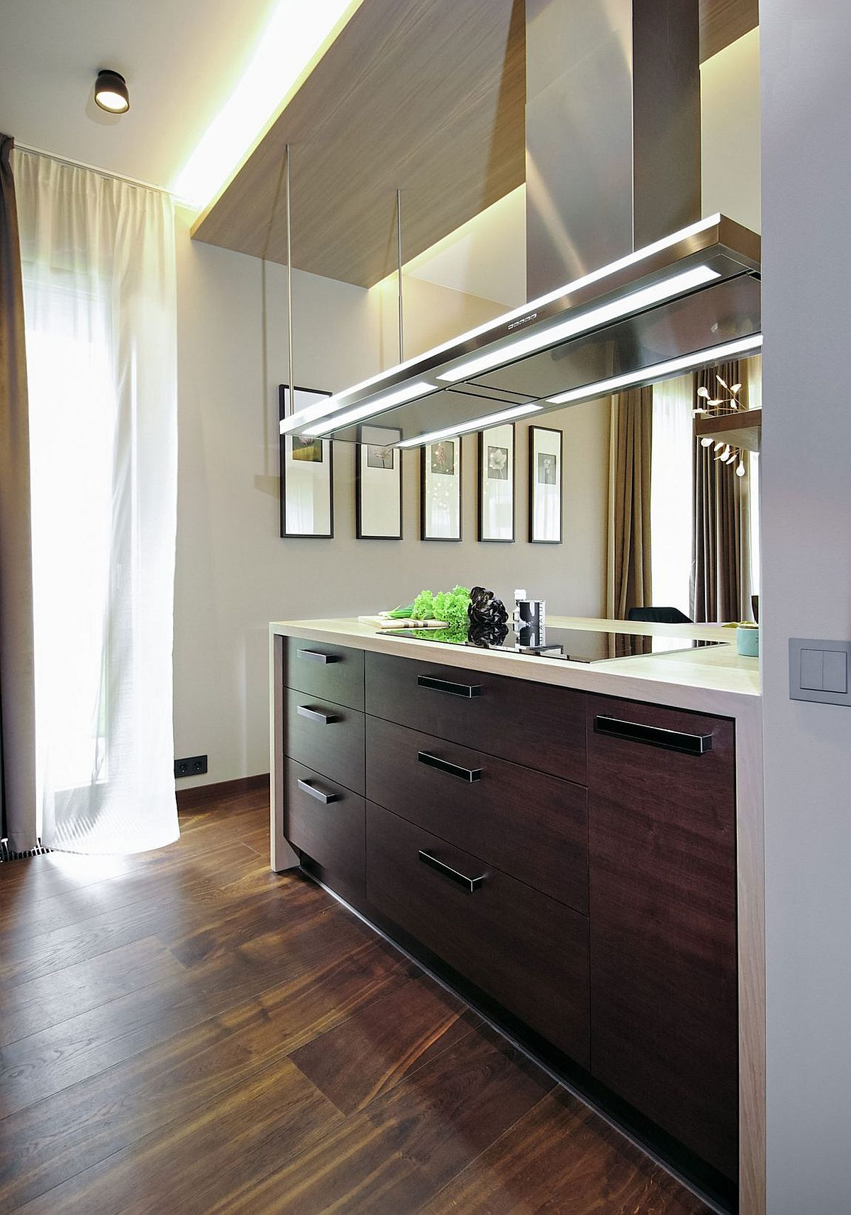 Modern kitchen with smart island that offers ample space