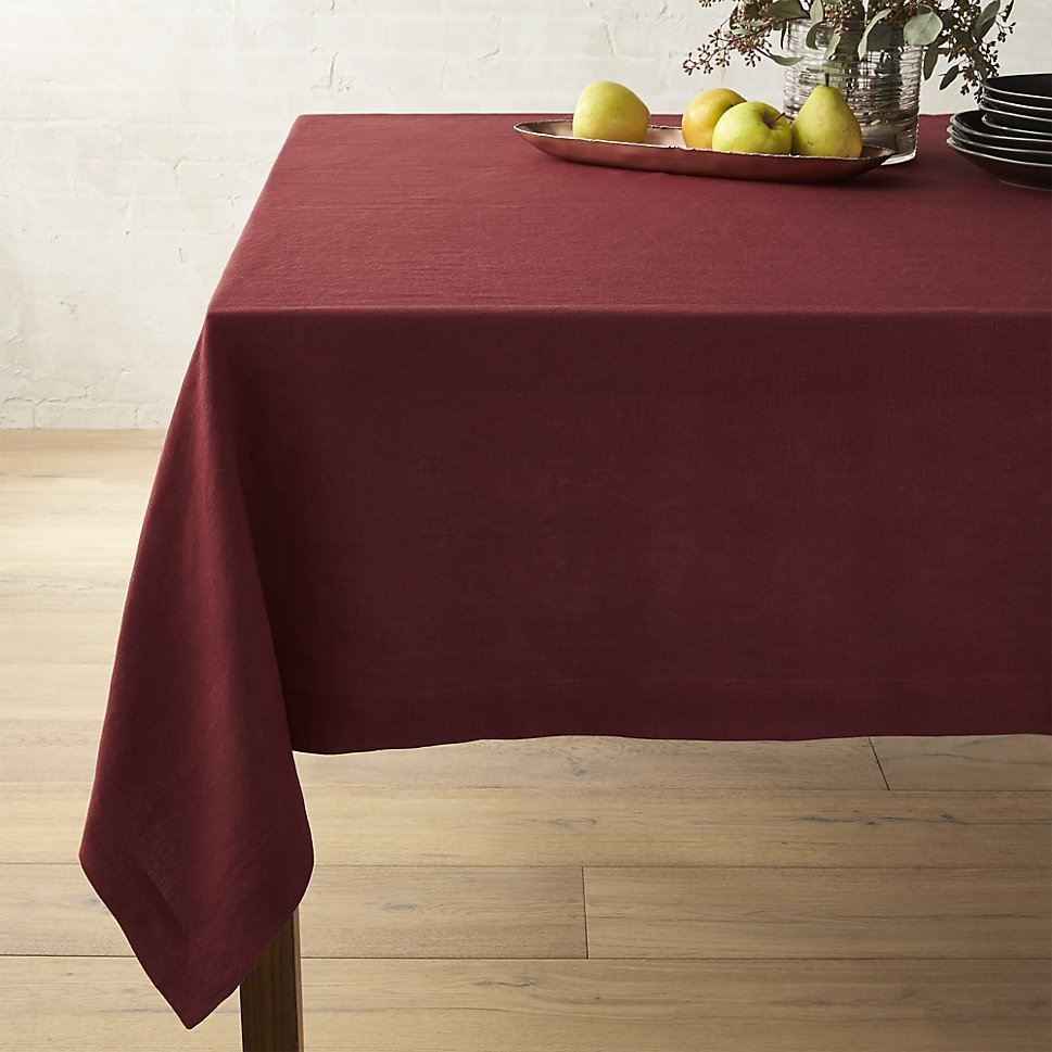 Wine tablecloth from Crate & Barrel