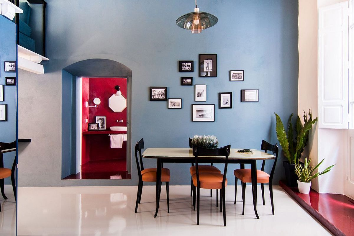 A picture wall for the modern dining room