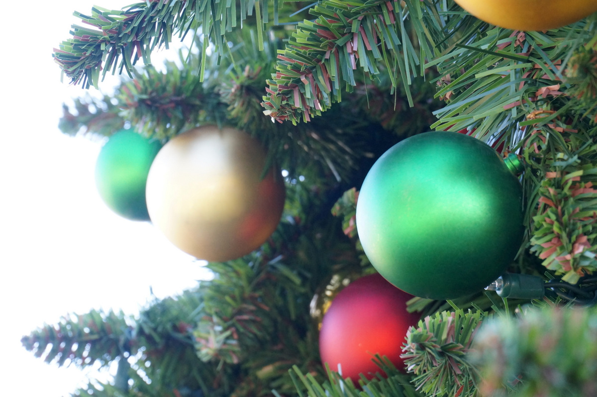 Christmas tree with ornaments