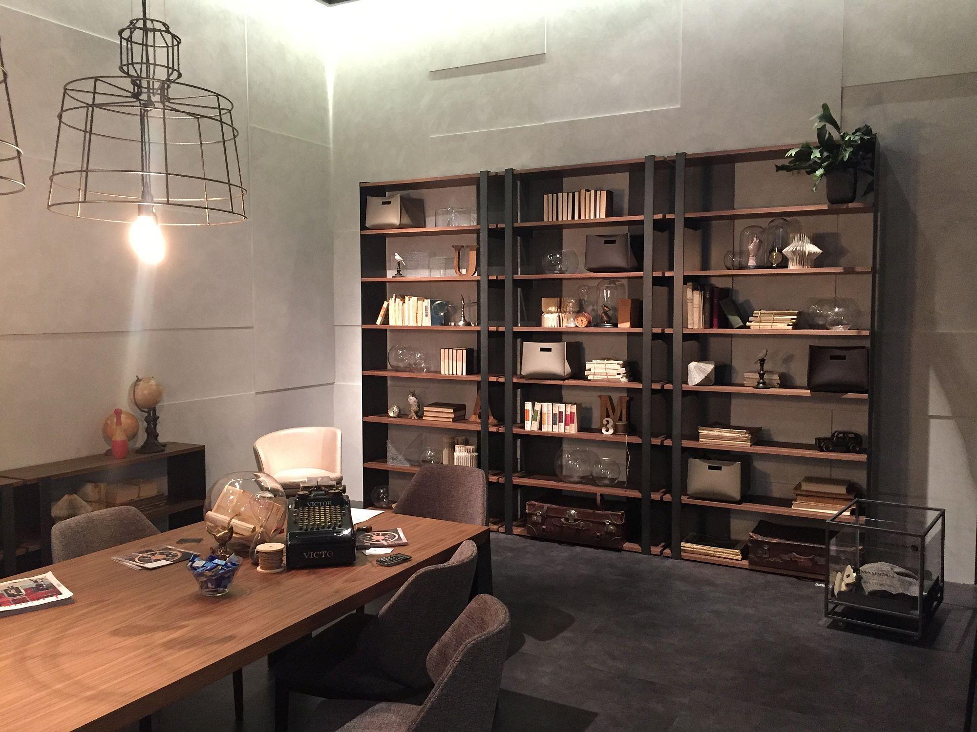 Home office open bookshelf offers plenty of display space