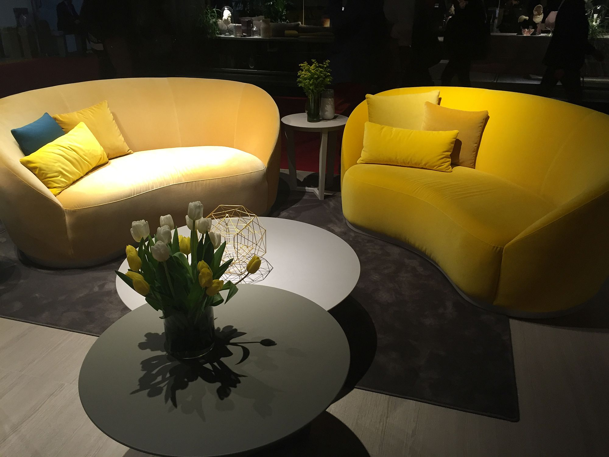 Think beyond the usual cohch designs to give your living room a refreshing modern vibe