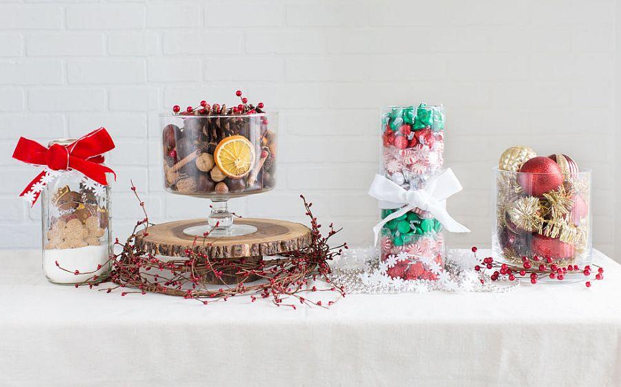 Easy DIY Christmas centerpiece idea from Good House Keeping