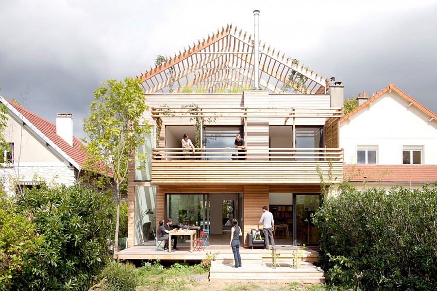 Eco-Sustainable House project by Djuric Tardio Architectes in Paris