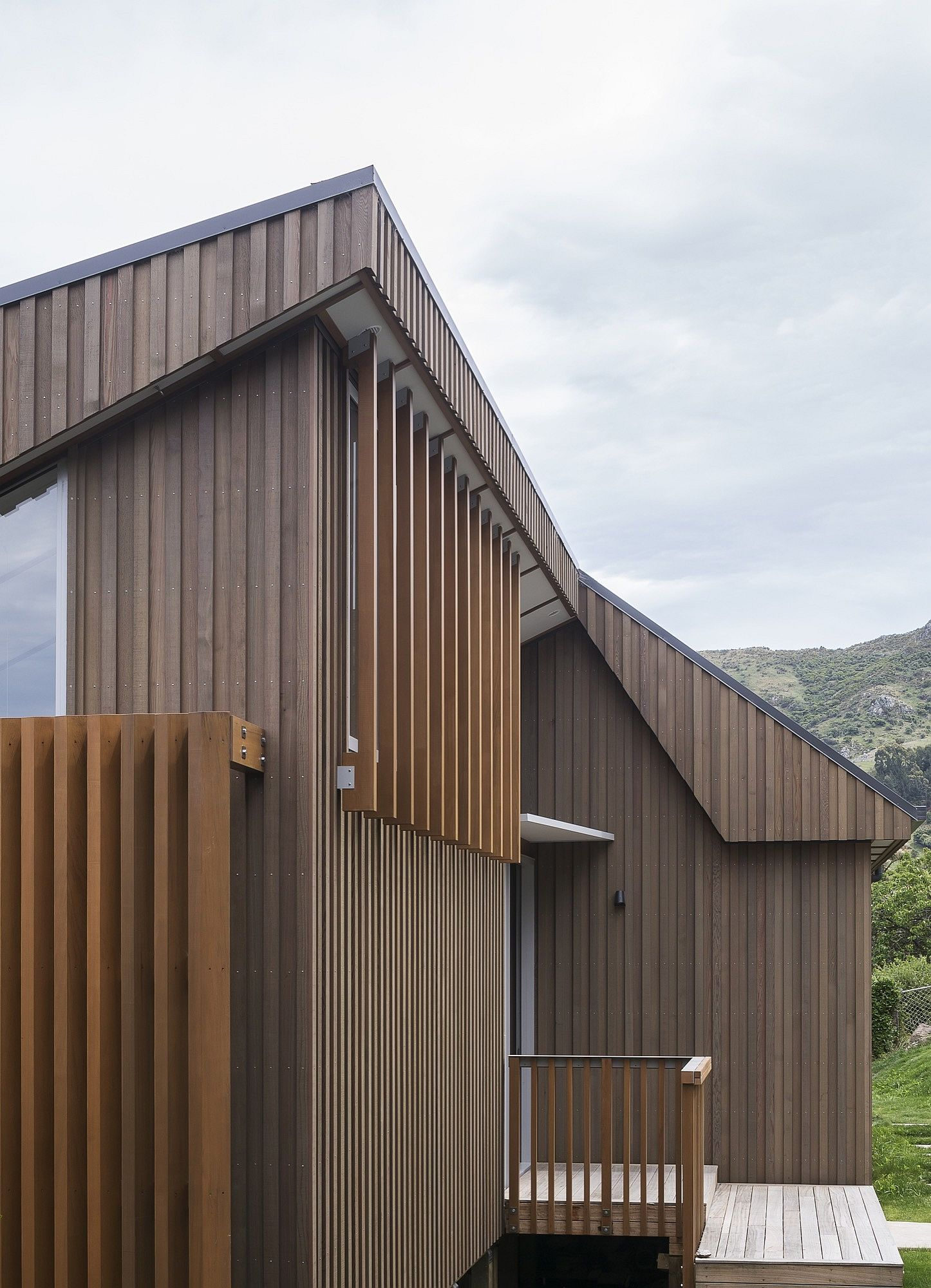 External timber frame of the home in New Zealand