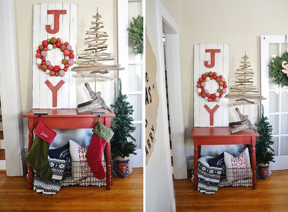 Fabulous DIY message board with Christmassy charm [From: Liz Marie Blog]