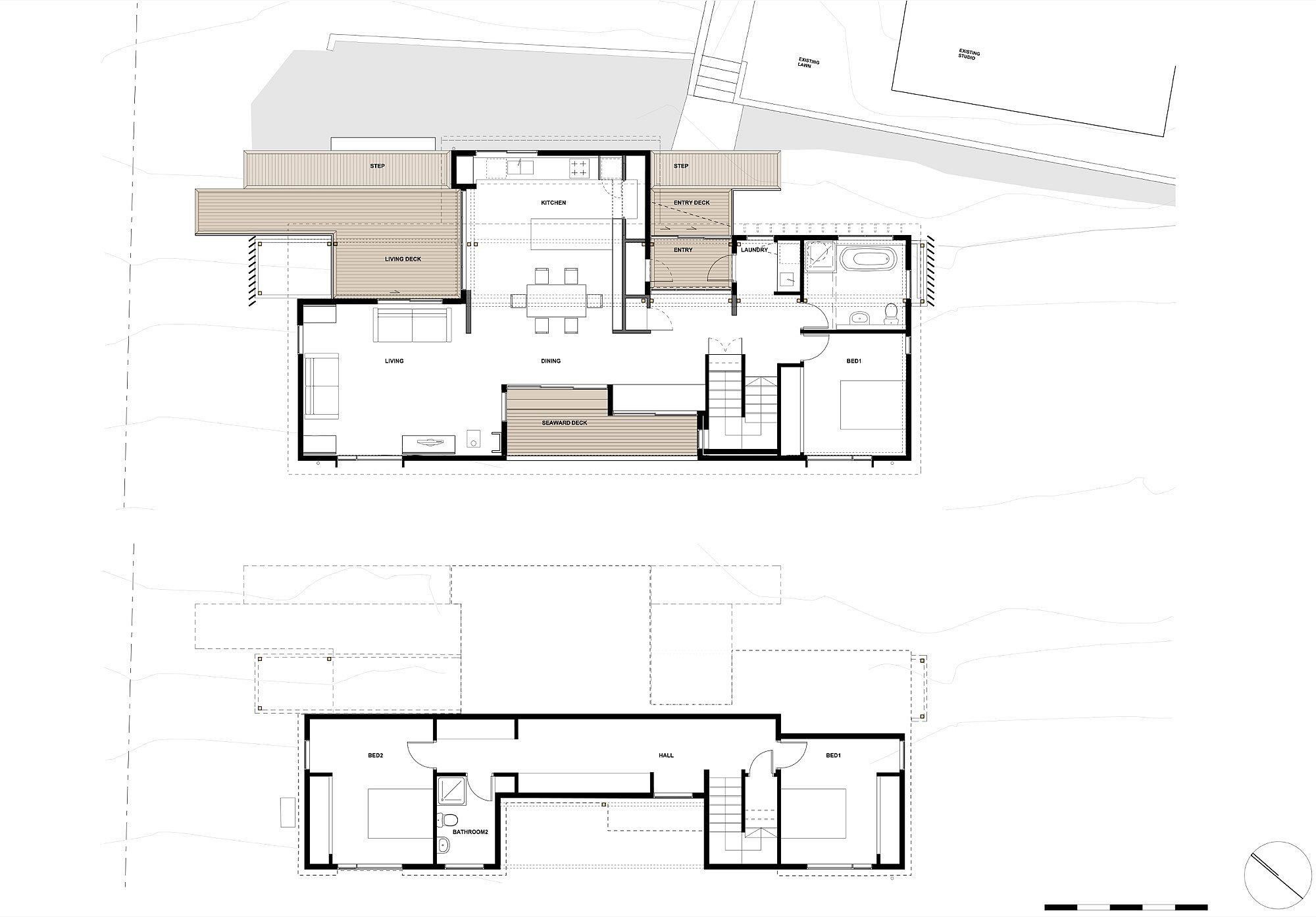 Floor plan of the House with Villa Silhouette