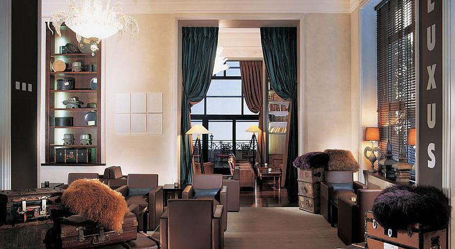 Goregous interior of luxury Swiss hotel and Spa