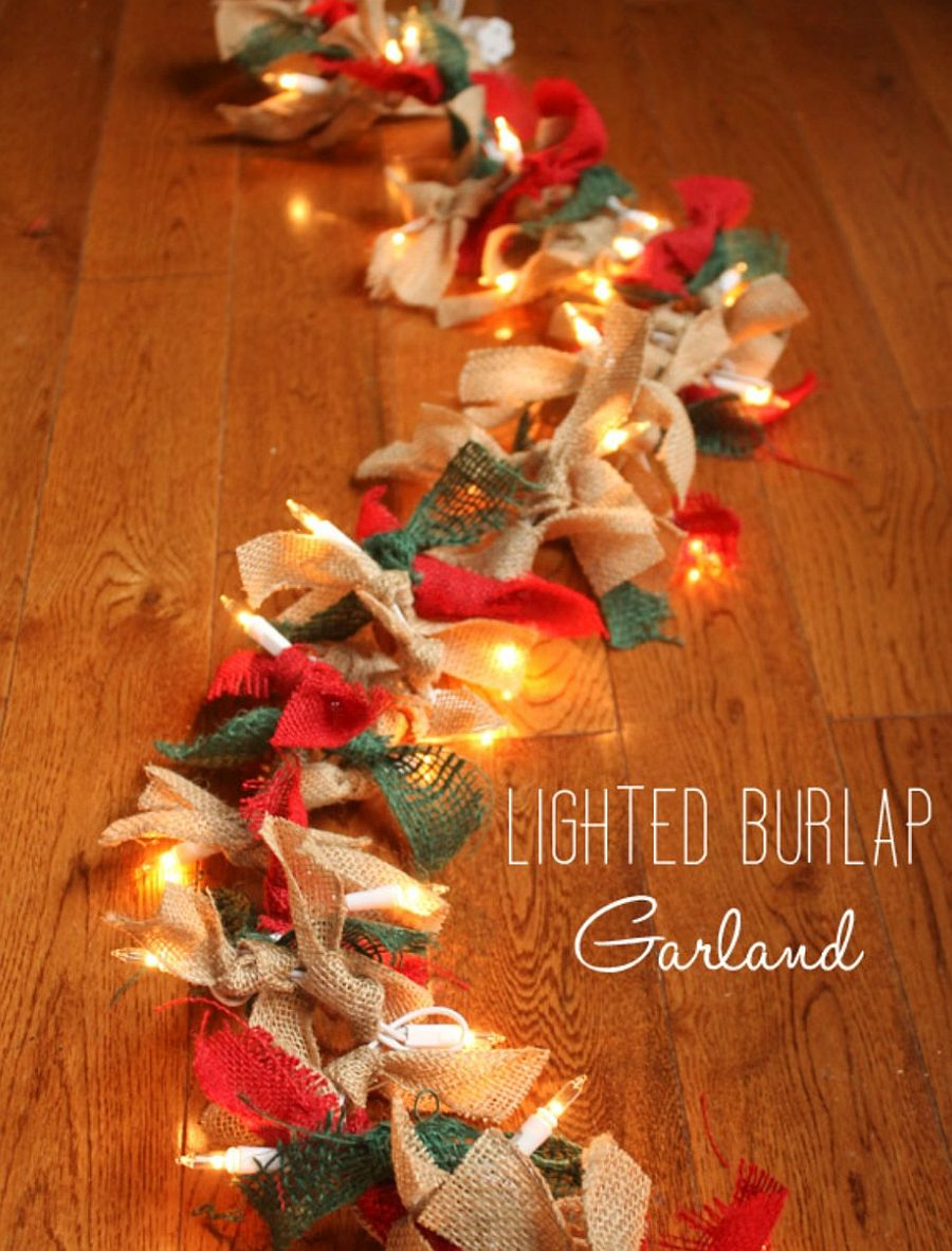 Illuminated burlap garland DIY [From: create craft love]